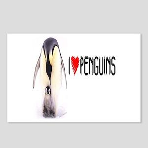 I LOVE [HEART] PENGUINS Postcards (Package of 8)